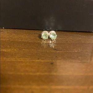 Kids Green Stud Earrings